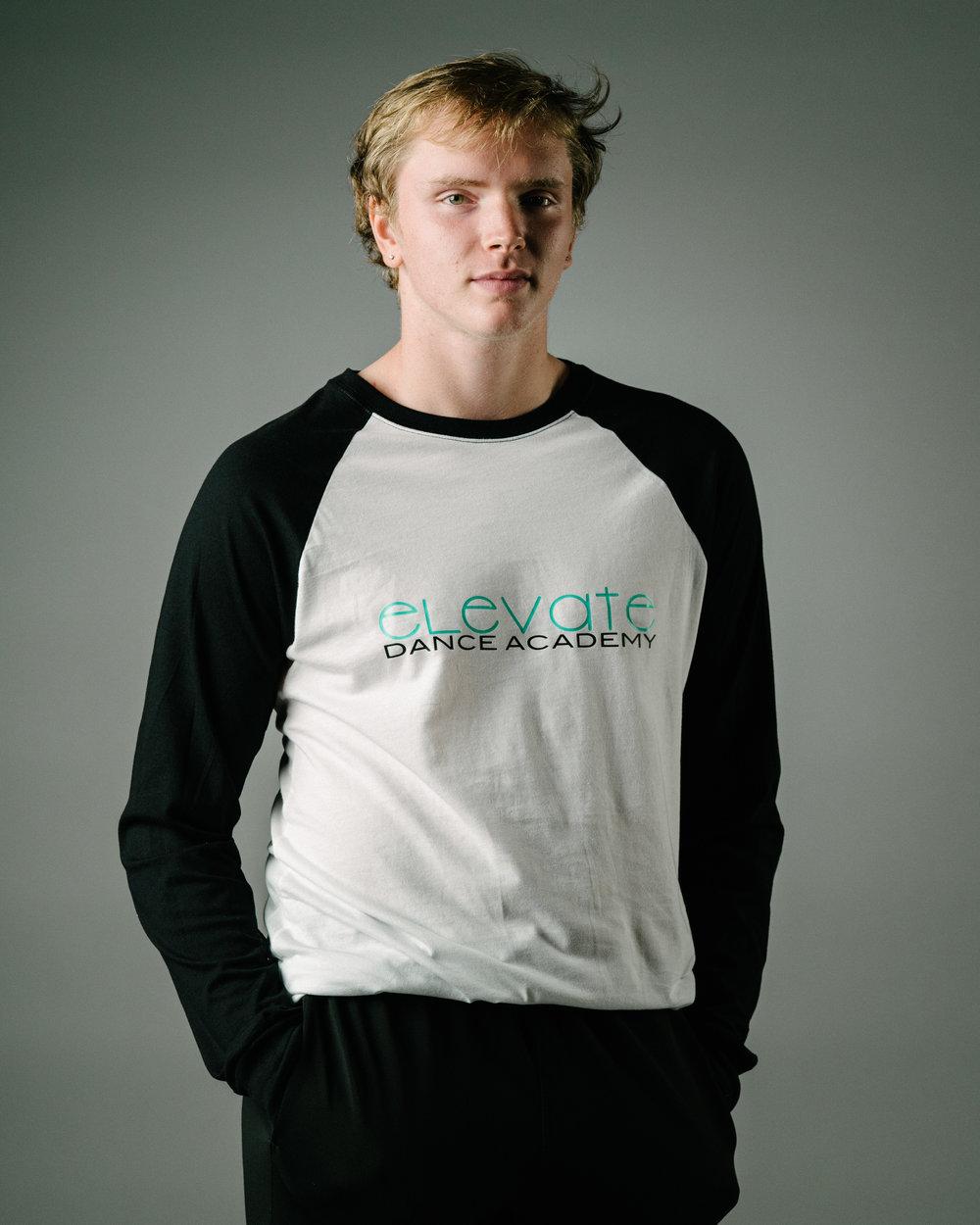 Black/White Baseball T-Shirt (Elevate logo)