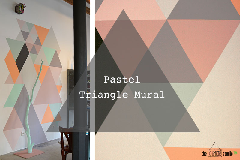 Tutorial Pastel Triangle Mural