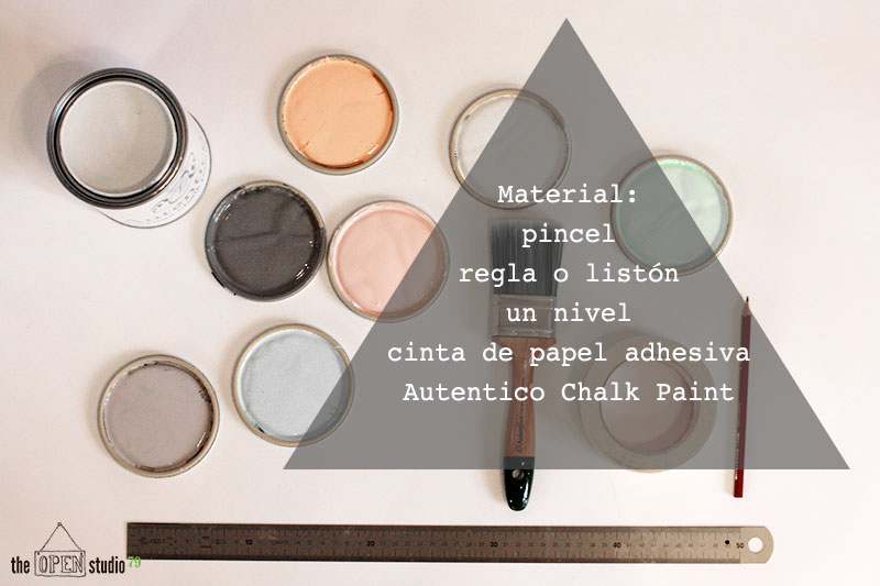 Materiales para pintar triángulos en la pared