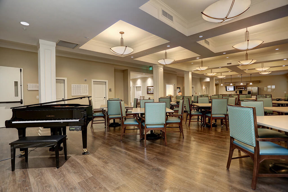 Dining room at Brickmont Assisted Living of Milton
