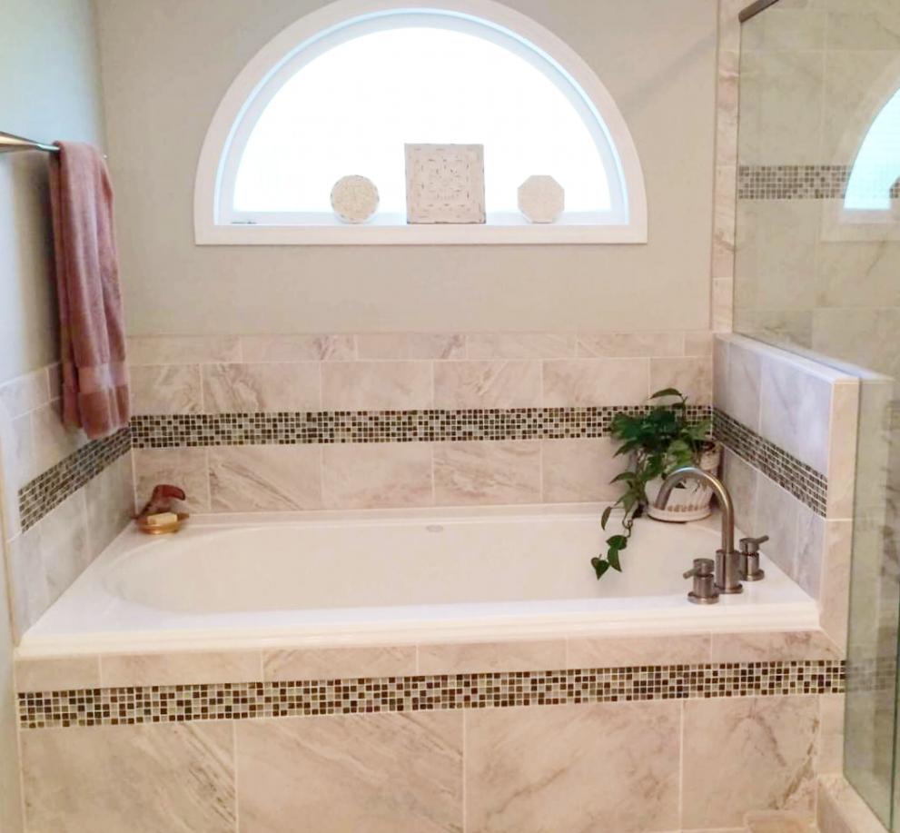 Residential Bathtub Mosaic Tile
