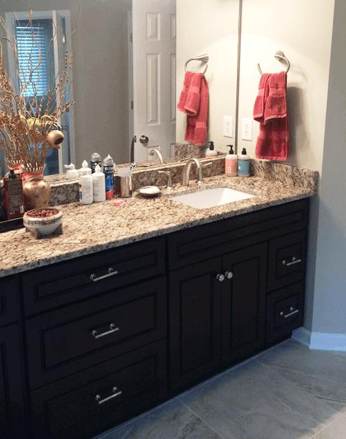 Residential Bathroom Vanity + Countertop