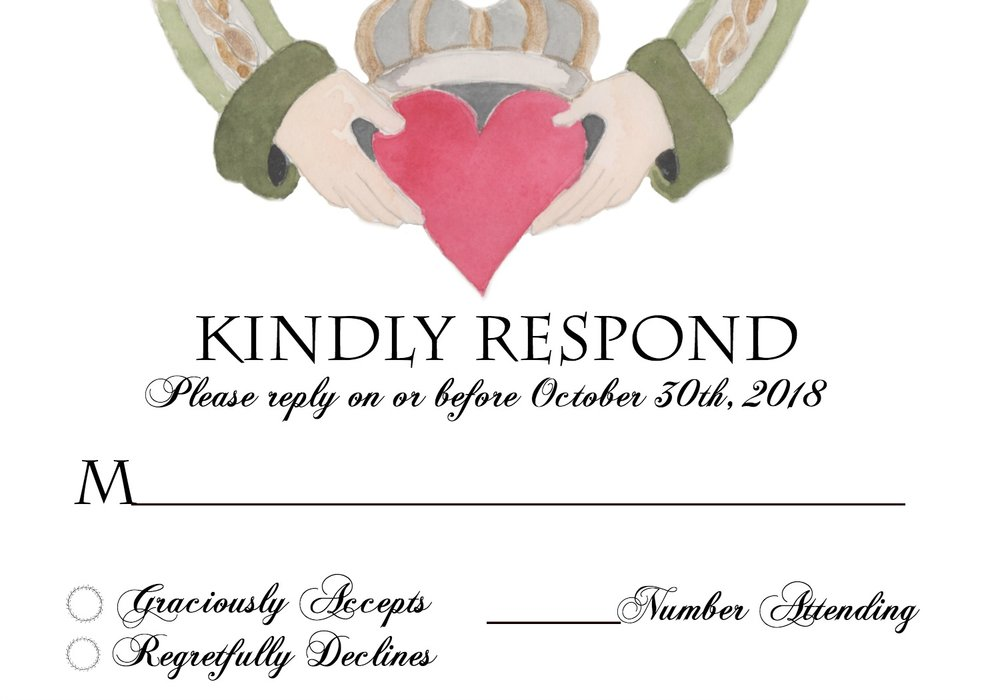 Response cards, save-the-dates, invitations