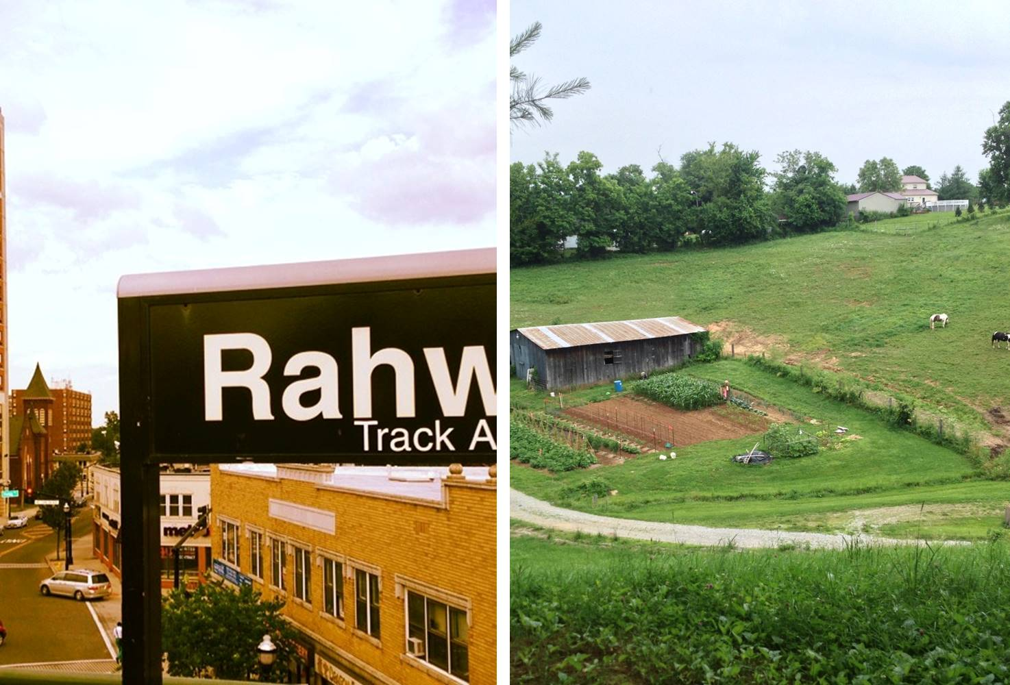 Rahway, NJ (left); Bradfordsville, KY (right)
