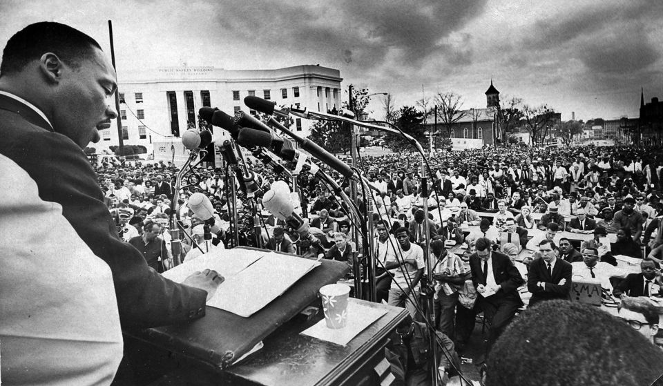 King speaking in Montgomery