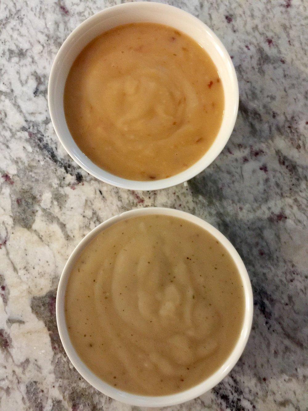 Top: Chipotle Gravy Bottom: Sherry Gravy