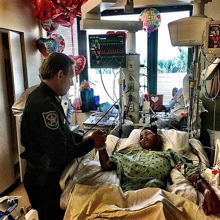 Broward County Sheriff visits Parkland shooting survivor AnthonyBorges