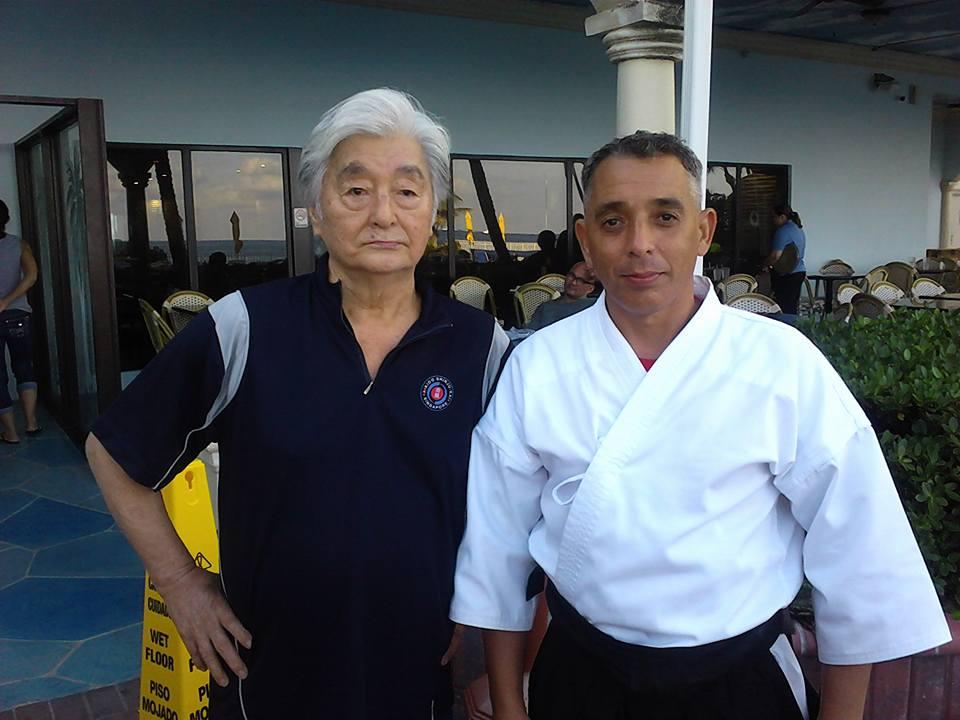 Yoshimitsu Yamada Sensei with Omar Lam Sanz Sensei