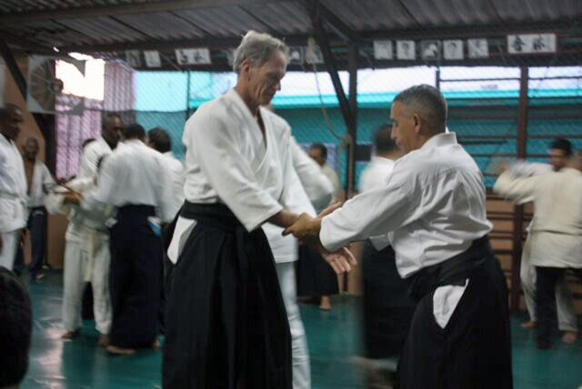 Omar Lam Sanz teaching at his dojo.