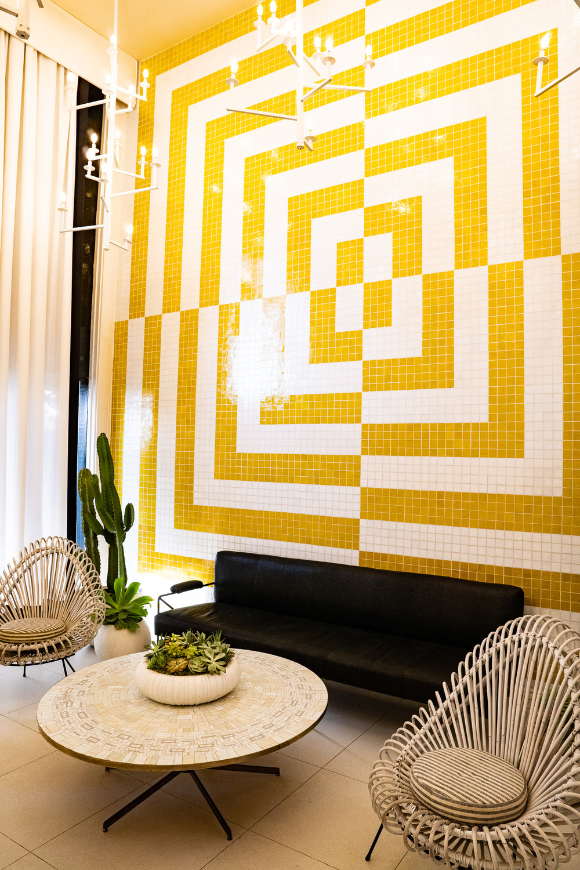 Lobby at Avalon Hotel, Palm Springs