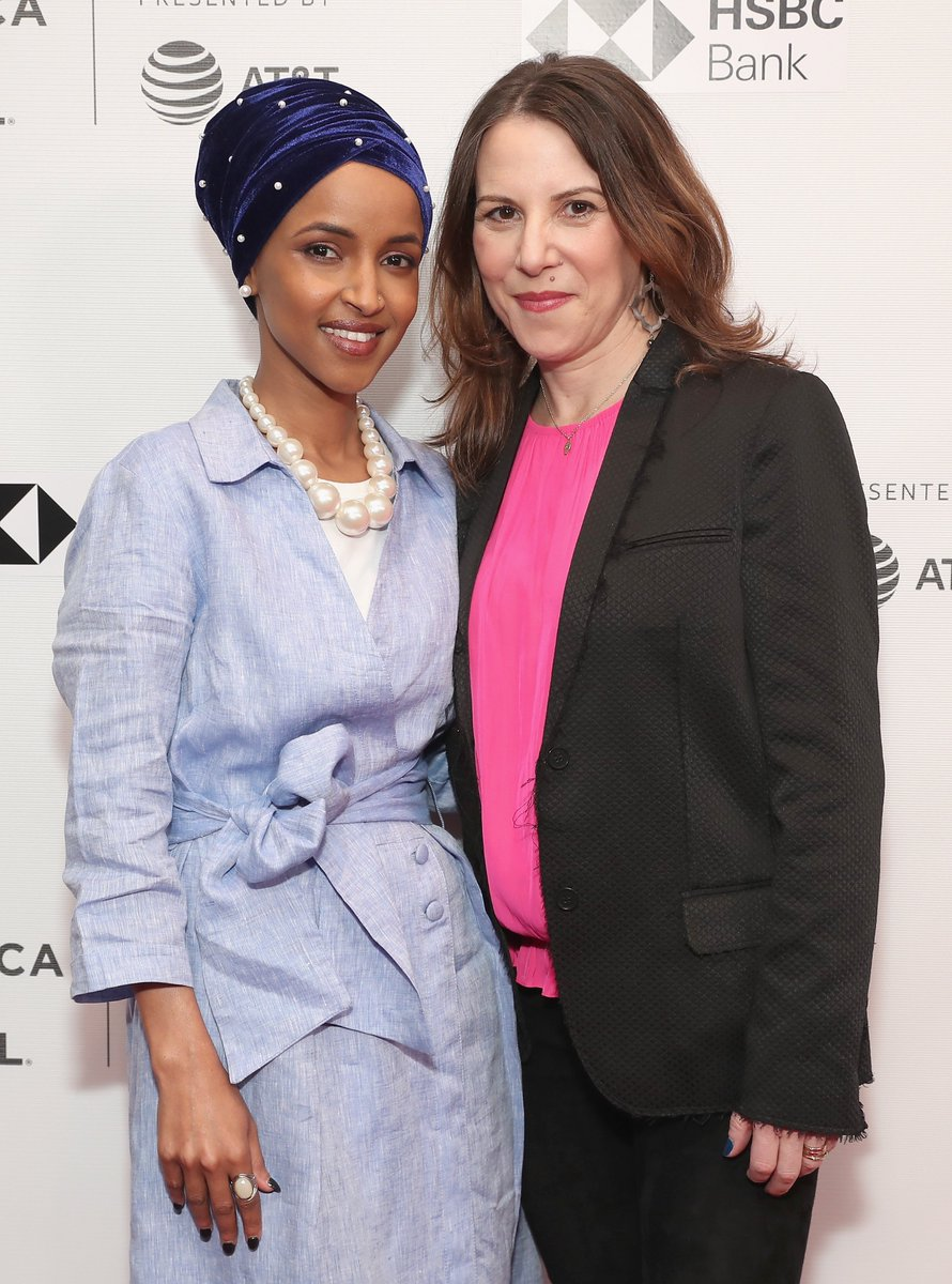 Subject Omar with director Shapiro at Tribeca Film Festival in April 2018