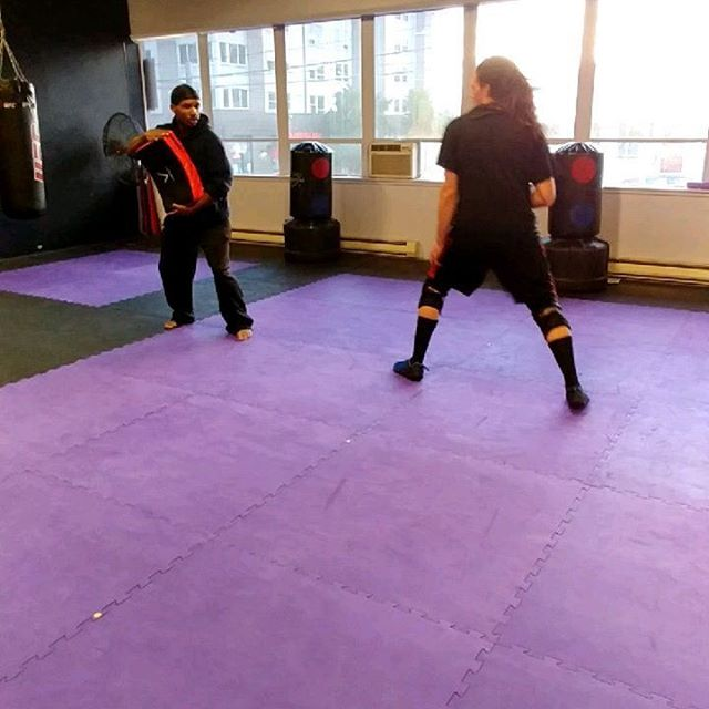 Some light kicking drills with Coach Marshall and Coach Khalil #taekwondo #tkd #blackmartialartist #seattle