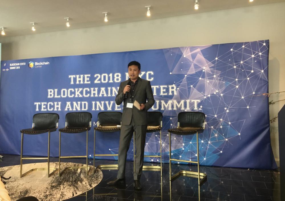 Versara Trade CEO Sean Liu Speaking at the 2018 NYC Blockchain Invest & Tech Summit