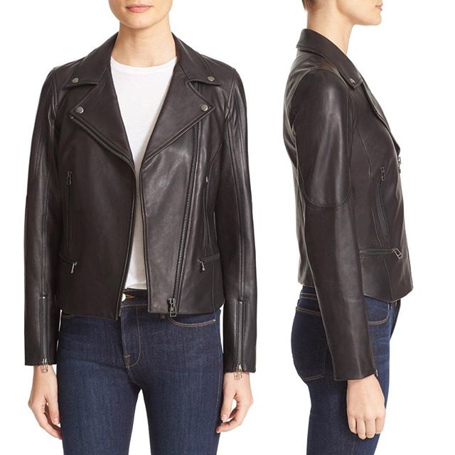 Back in Stock!  #TruthandPride 'Hi Fi' Leather Jacket Available Now at #Nordstrom Online and select Full Line Stores! Paneled construction creates a streamlined fit in a classic #moto #jacket cut from soft, supple lambskin #leather and finished with sleek zip pockets and snap-down lapels. bit.ly/2fCF2o5