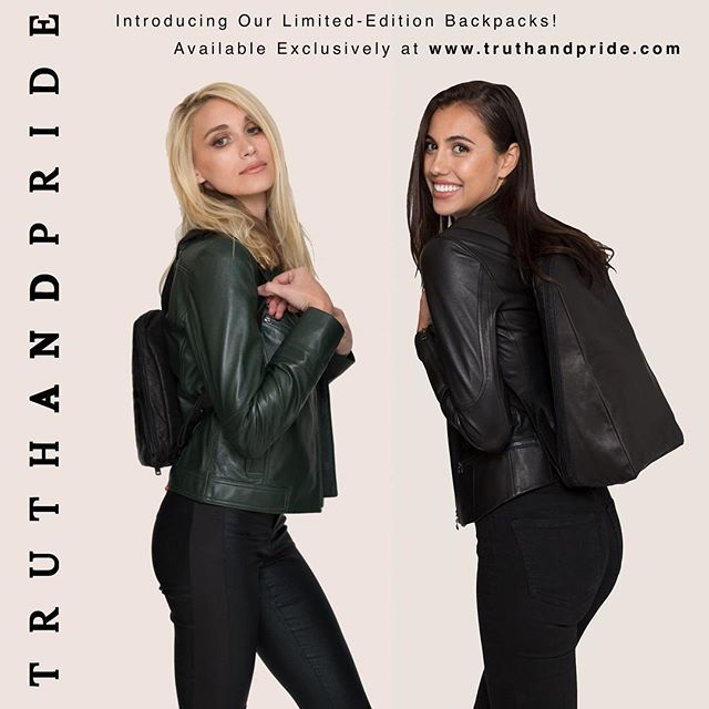 Our #LimitedEdition #LeatherBackpacks have arrived!  Available Exclusively at #truthandpride.com!