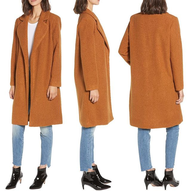 Mocha Teddy Bear Coat  Available Now @Nordstrom Online and Full Line Stores! Fuzzy-wuzzy is this teddy bear coat, crafted from luxe bouclé in a long, open-front cut for easy-on cozy style . . . . . #muralclothing #nordstrom #savvy #contemporary #mochacoat #teddybearcoat #coat #outerwear #jacket #fallfashions #style #ootd #fashion #womenswear #falltrends