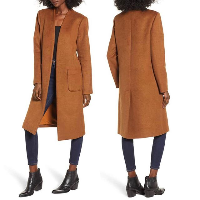 Long Open Front Coat Warm and woolly, this chic longline coat is styled with a versatile open front and handy patch pockets. Burnt Camel available at all @nordstrom Full Line Stores and Nordstrom.com. Also available in Charcoal Grey And Seafoam @nordstrom online only. . . . . . #muralclothing #nordstrom #fashion #style #wiwt #ootd #coat #styleblog #fashionblog #longcoat #savvy #instagood #camelcoat #chic #longlinecoat #fashionblogger #saturdaynight