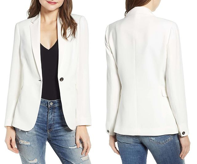 NEW!  Single Button Blazer Now Available @Nordstrom Select Full Line Stores and Online! A staple jacket you'll turn to again and again, this single-button option works whether you're on the clock or on for drinks. . . . . #muralclothing #nordstrom #savvy #contemporary #whiteblazer #blazer #singlebutton #womenswear #jacket #whitecoat #fashion #stylegram #ootd #style #fashionable #outerwear #fashionlover #lookoftheday #sundaystyle