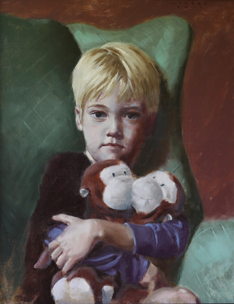 """Elliot""  16""x20"", oil on linen"