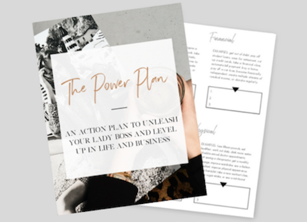 The Power Plan  - To the woman who has a vision but needs a roadmap, we hear you! Mapping out a game plan can be difficult when you aren't sure where to begin. We have good news, we've done the hard work for you! Click that button below and we will send you a detailed roadmap that will allow you to get your priorities in order and IGNITE your dream business game plan!