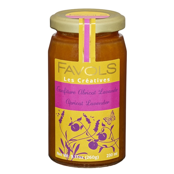 Favols Apricot Jam with Lavender $9 - This delicious jam is made from apricots and lavender, and is a relaxing spread for your weekday toast or your weekend crepe.