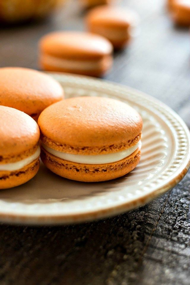 Fall Featured Macaron - Pumpkin Cheesecake