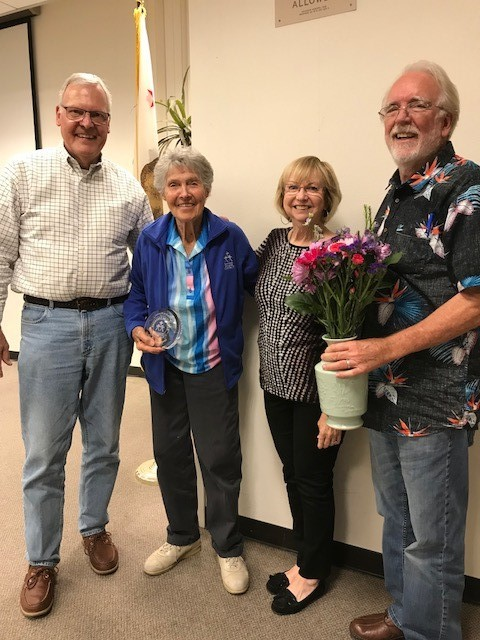 Pictured left to right: Board Members Jack Anderson, Charlotte Hotchkiss, Kathy Secan, and John Woodard.