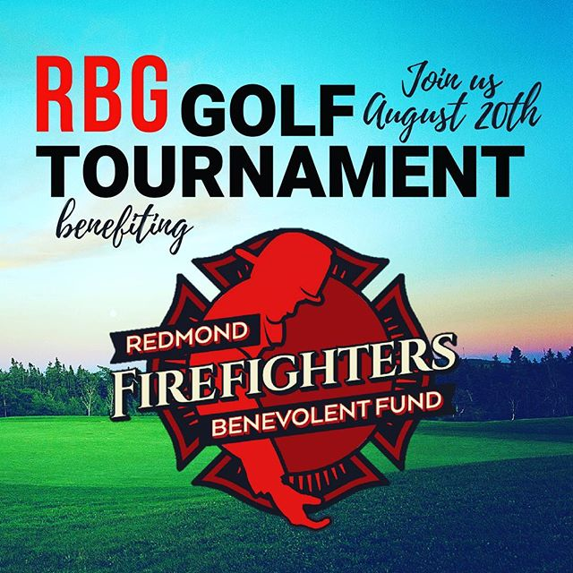 Join us Monday, August 20th at The Golf Club at Redmond Ridge for our annual golf tournament! This year we're supporting the Redmond Firefighters Benevolent Fund. The day begins with a shot-gun start at 1:30 pm then winds down with dinner and our silent/live auctions. To register your team, become a sponsor or to make a donation visit birdeasepro.com/RBG. Come support a great cause AND for a fun day on the links! #followmetorbg @RedmondFirefightersBenevolentFund @redmondridgegolf