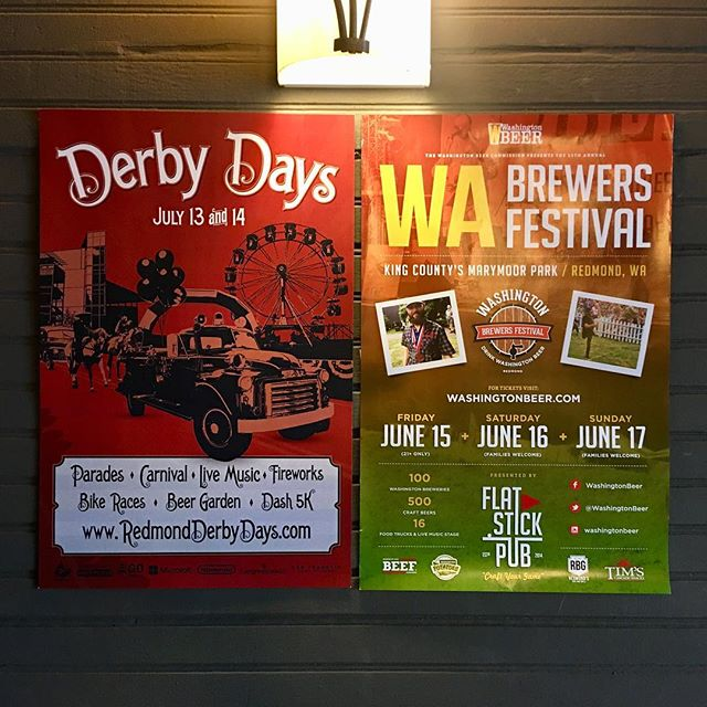 Our two craziest weekends of the year are on the horizon! First up, Father's Day weekend with @washingtonbeer for the Washington Brewer's Festival. Next, @cityofredmond Derby Days Festival July 13th and 14th...and yes, we'll be serving our food in the beer garden! Make sure to come by so we can feed you! #redmondderbydays #drinkwabeer