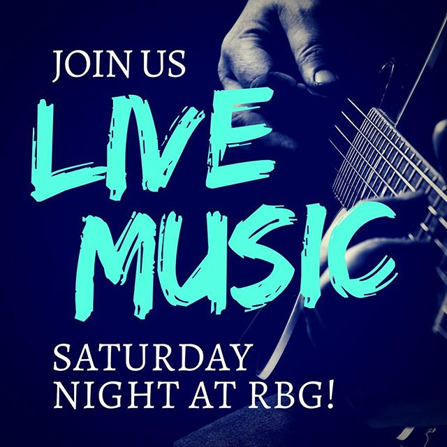 Looking for an excuse to get out tomorrow night? Come by RBG for live music starting at 9:00 pm! Our very own JP will be entertaining us with acoustic versions of pop songs spanning the last 40 years! See you this weekend! #followmetorbg