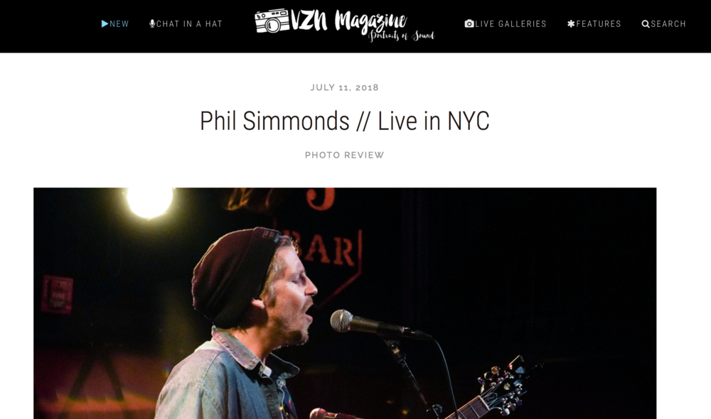 VZN Magazine - Photo review from Rockwood Music Hall - NYCPhotos by Stefanie Dabs.