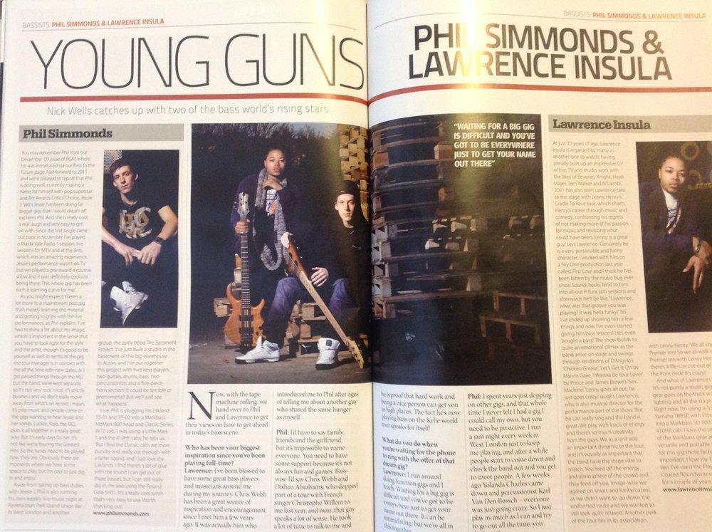 Bass Guitar Magazine issue 65 april 2011 YOUNG GUNS 1.JPG
