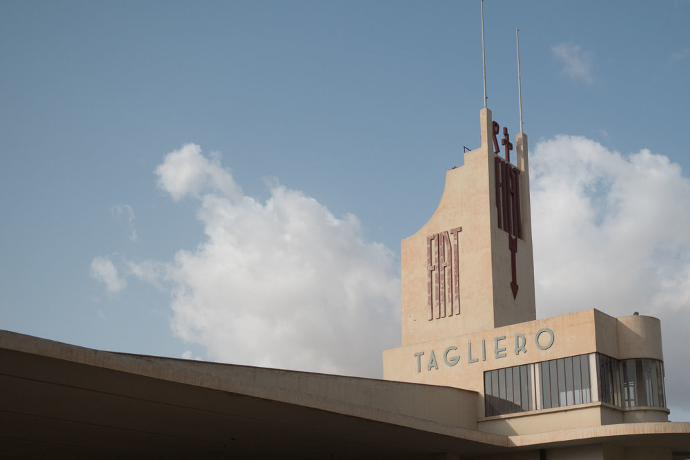 The Fiat Tagliero building in Asmara, Eritrea.