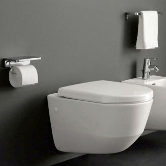 Laufen Wall Hung Toilet.  Minimal design that is both functional and hygenic.