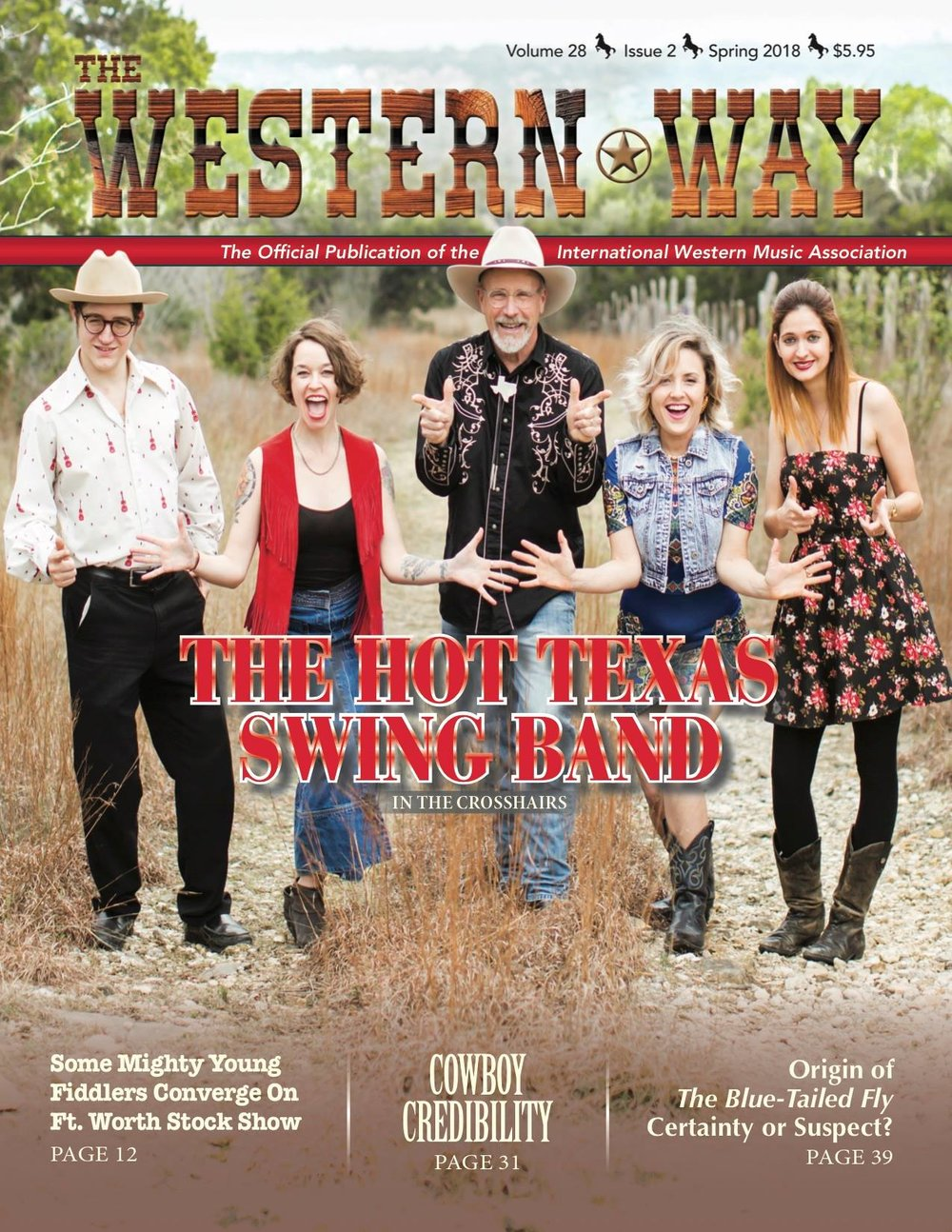 Hot Texas Swing Band Western Way Magazine cover
