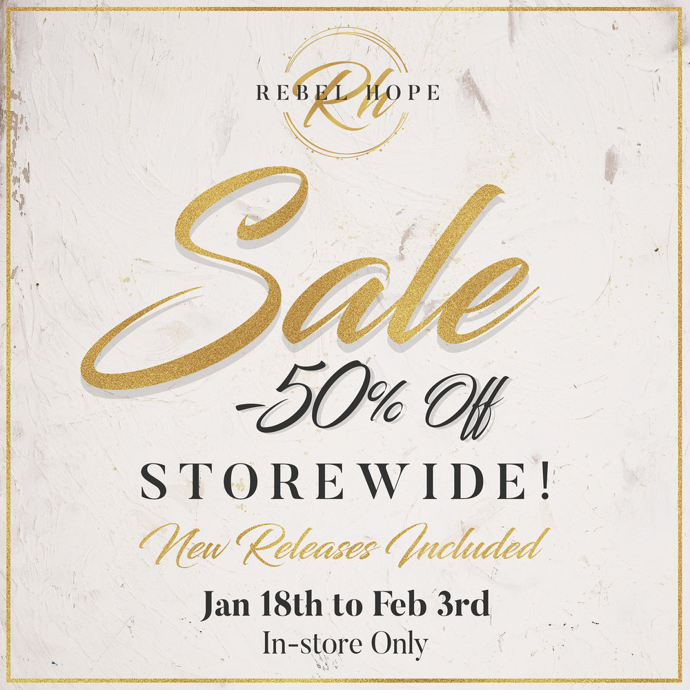 50% Off Storewide! @ Rebel Hope Designs