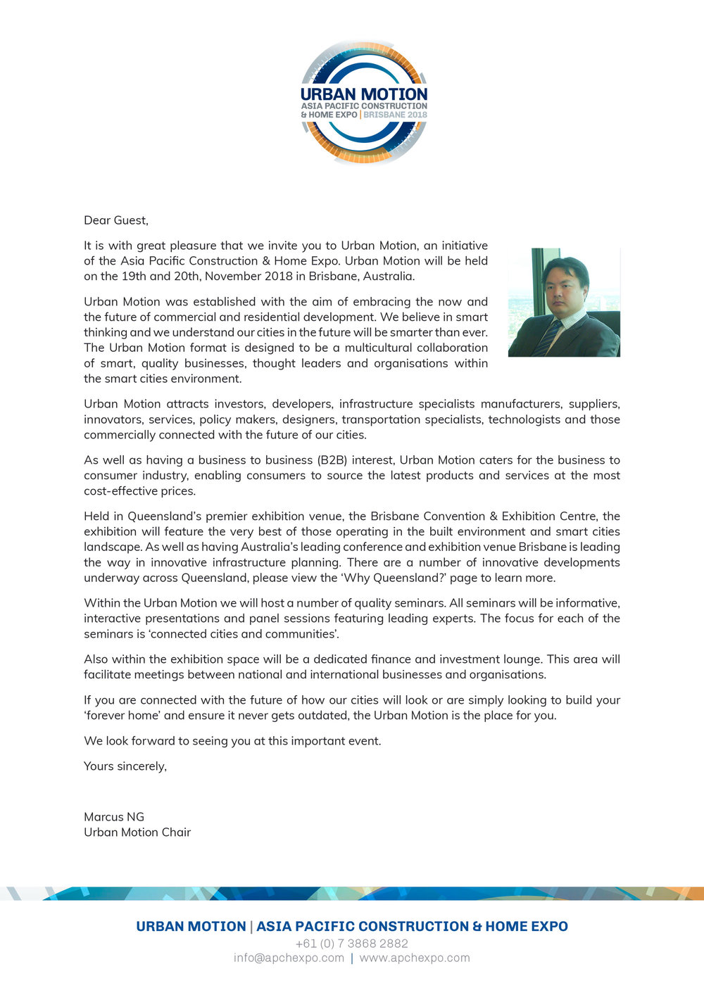 Letter Of Invitation Asia Pacific Construction Home Expo