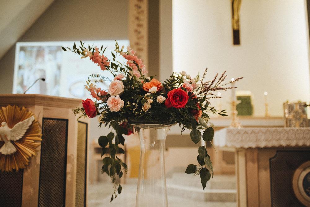 Church Wedding Centrepiece