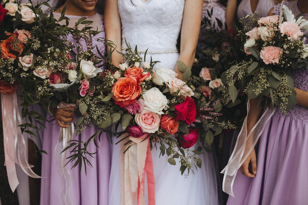 Bride's and Bridesmaid's Bouquets