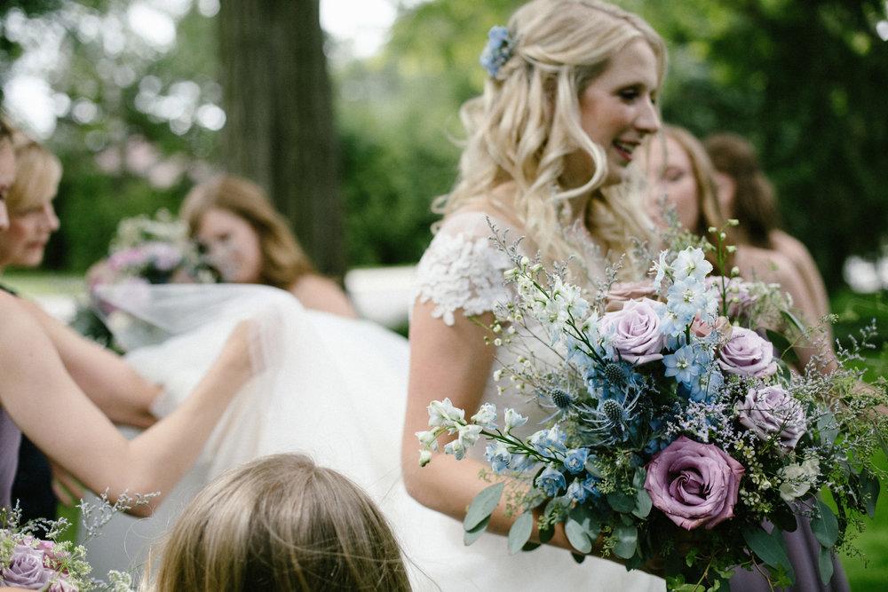 Lavender and Blue Bouquet