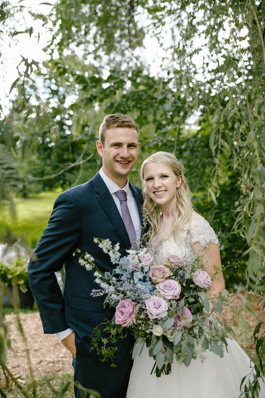 Lavender and Pale Blue Bouquet