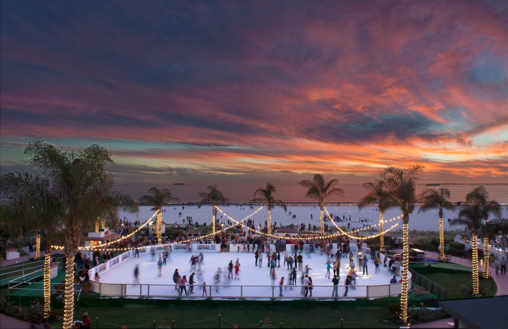Holiday Ice Rings - While the weather may stay warm, the ice will be chilly so bundle up and glide away on one of San Diego´s outdoor ice skating rinks.