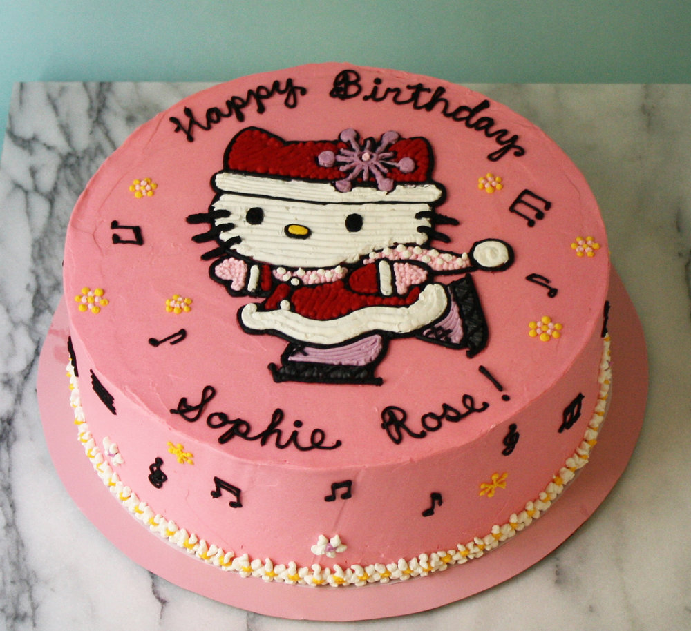 For Sophie Rose, a major Hello Kitty fan, only a skater's waltz would do.