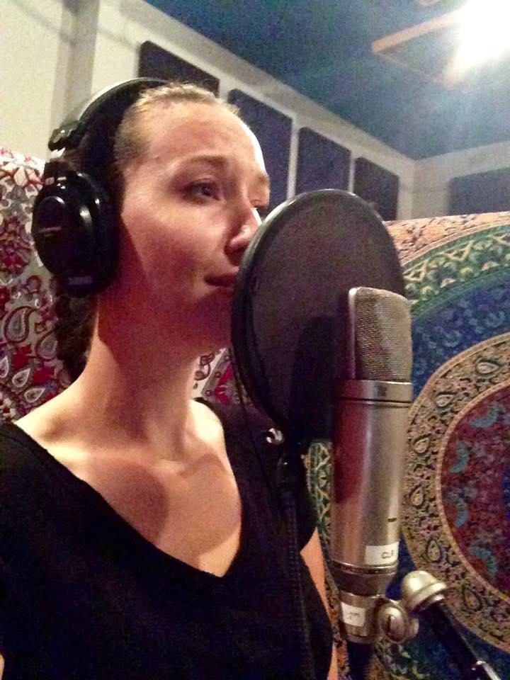 Kira Alvarez in the Recording Studio