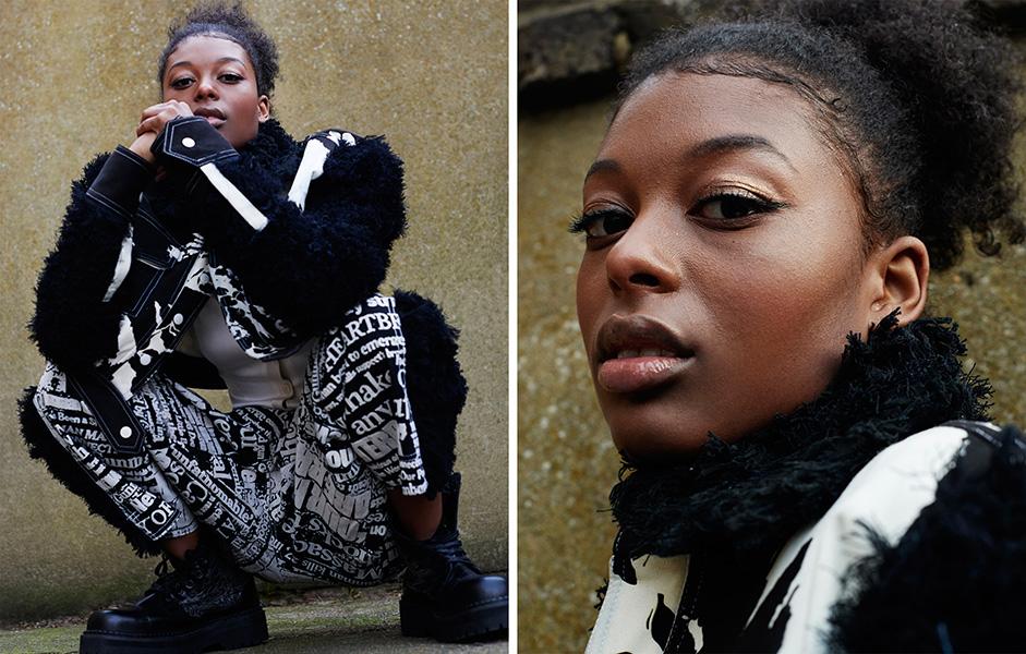 Jacket and trousers: Tolu Coker, Shirt: Weruzo, Shoes: Ka Wa Key x Underground