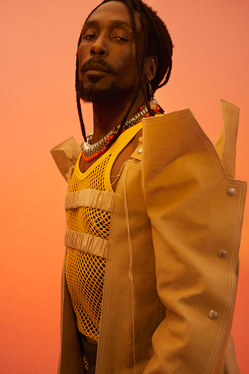 Coat-Shakila Thebe / Earings &Necklace-Longshaw ward / Belt-Verity Germer