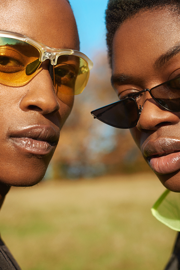 Estelle - Sunglasses: Komono from The Goods Agency. Shami: Sunglasses: WESTWARD LEANING from The Goods agency
