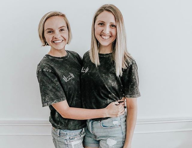 how cute is @thelittlest3 & @thisjoyfilledlife_ in our tees?? 😍🖤 wishing you the happiest of birthdays today Kenzie 🖤🖤🖤