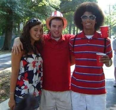 John & Justin (& Diana) in the summer of 2008. Yikes.
