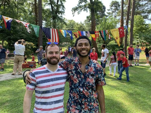 John & Justin in the summer of 2019. Cellphone cameras have really improved.